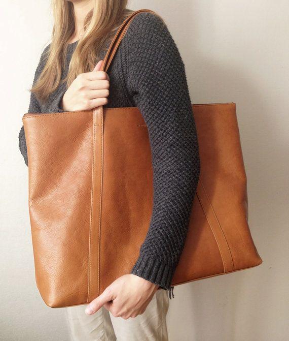 modelo de bolsa sacola grande de couro