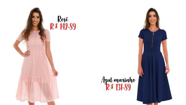 modelos e preços de vestido midi rodado