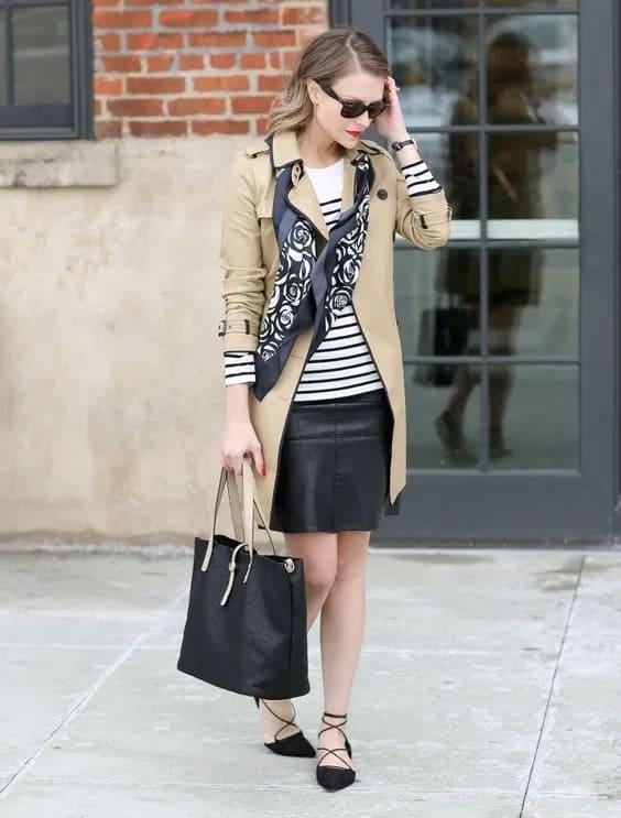 look com bolsa sacola de couro preto