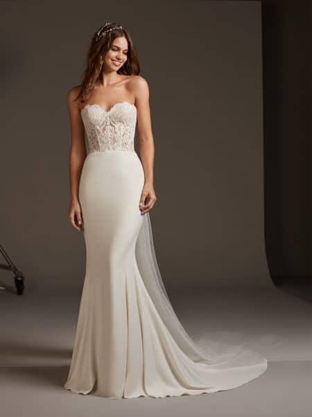 vestido de noiva sereia com corpete de renda