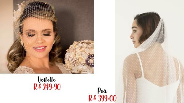 lojas e preços para véu de noiva