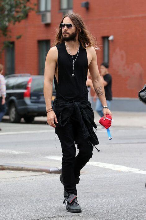look masculino para show de rock