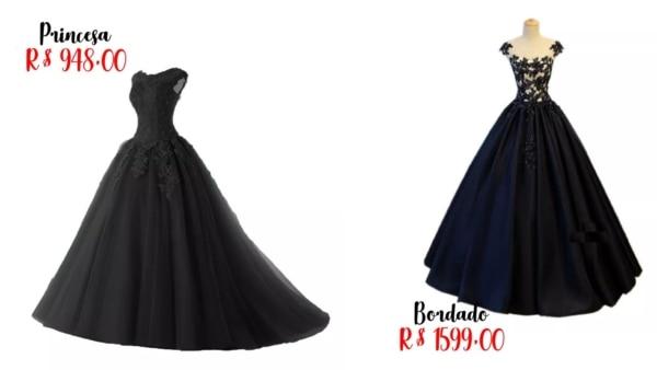 onde comprar vestido de noiva preto