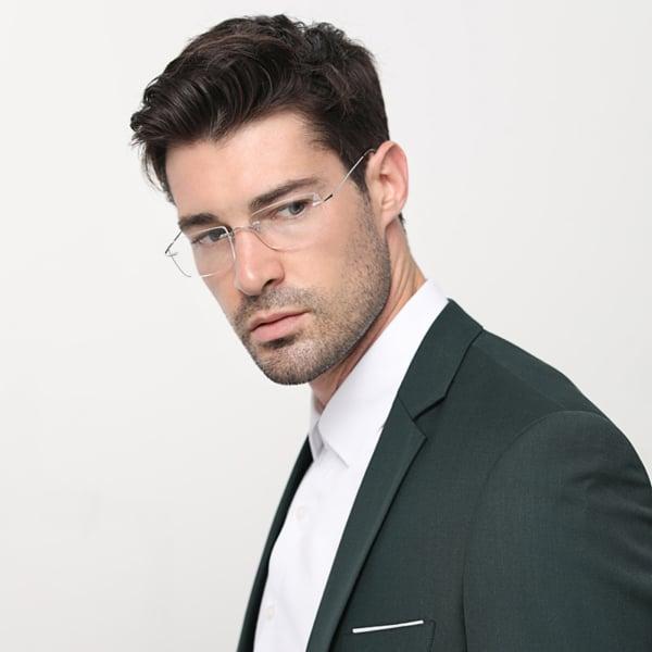 homem com óculos de grau clean