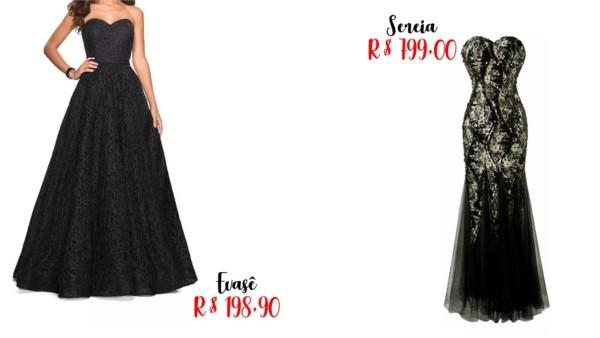 preço para vestido de noiva preto