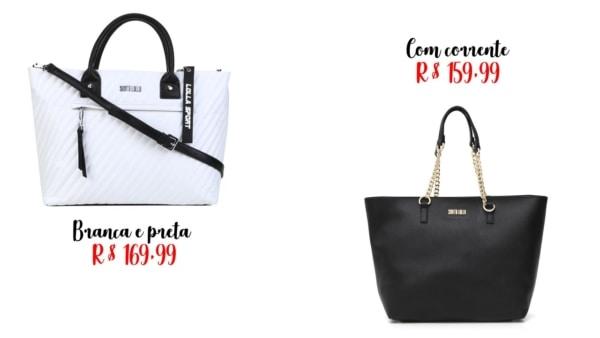 modelos e preços de bolsa sacola Santa Lolla