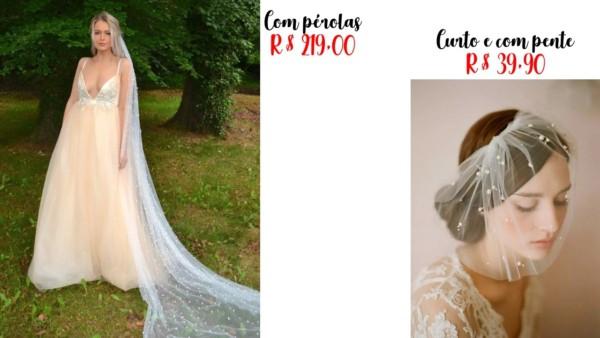 modelos e preços de véu de noiva