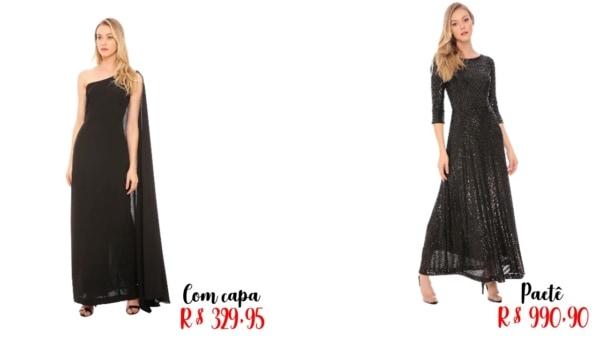 modelos e preços de vestido de noiva preto