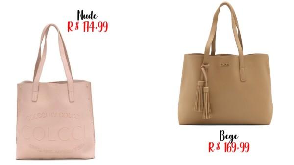 modelos e preços de bolsa sacola Colcci