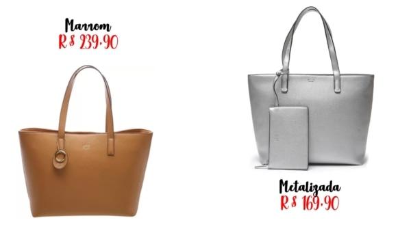 modelos e preços de bolsa sacola Arezzo