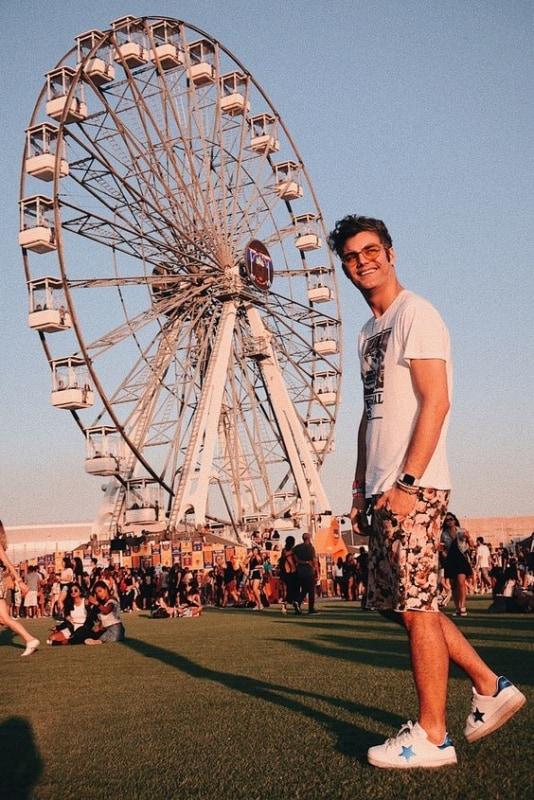 look masculino com bermuda para Rock in Rio