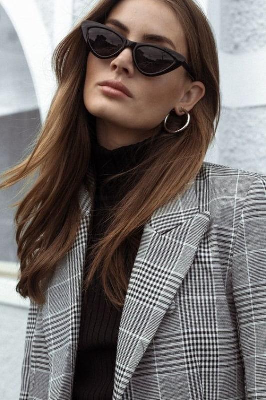 modelo de óculos de sol retrô feminino