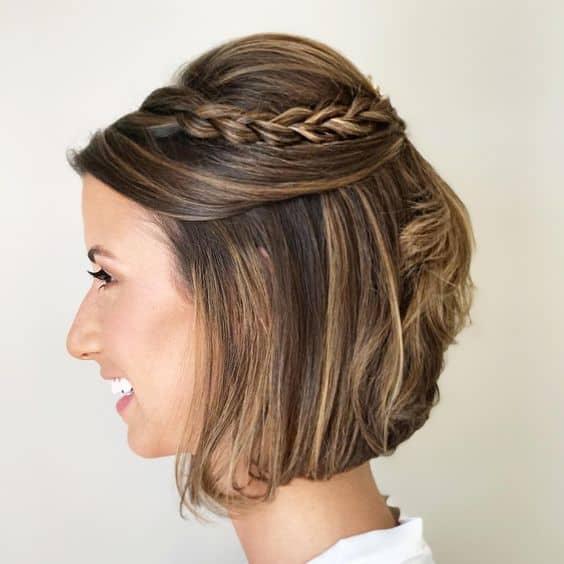 penteado semi preso para madrinha de casamento