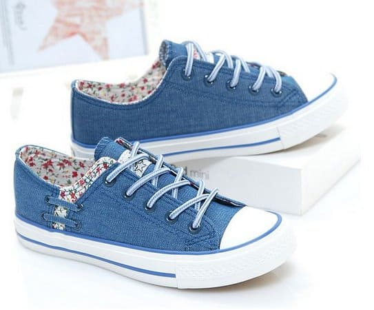 All star jeans com estampa floral