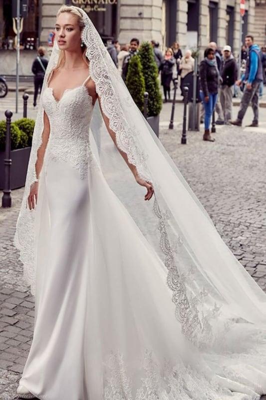 Vestido de alcinha para noiva