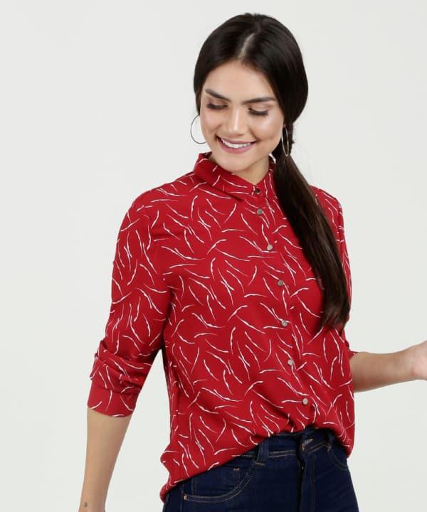 Blusa para trabalha em viscose vermelha