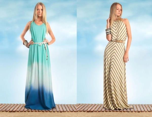 Dois modelos de vestidos lindos longos