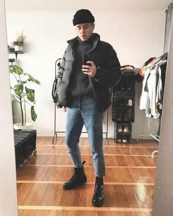 Jaqueta de nylon masculina