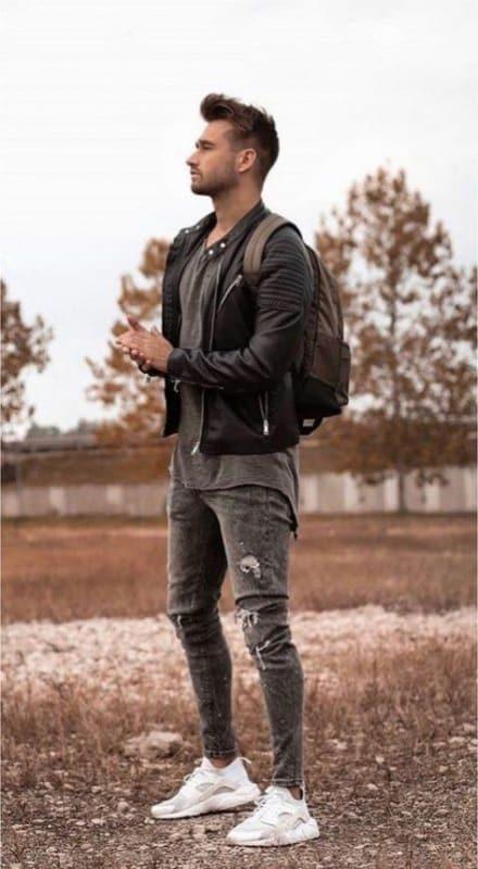 Jaqueta masculina de nylon