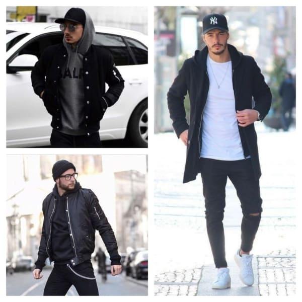 Jaqueta preta masculina modelos