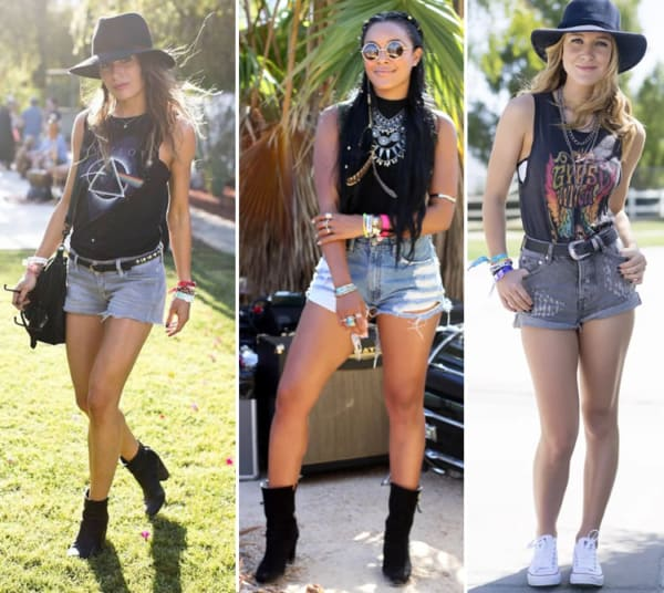 Looks lollapalooza com short jeans