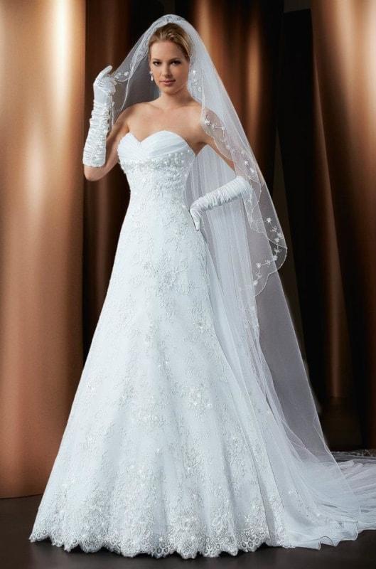 Luvas de noiva e véu