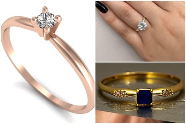 Modelos de anel solitário