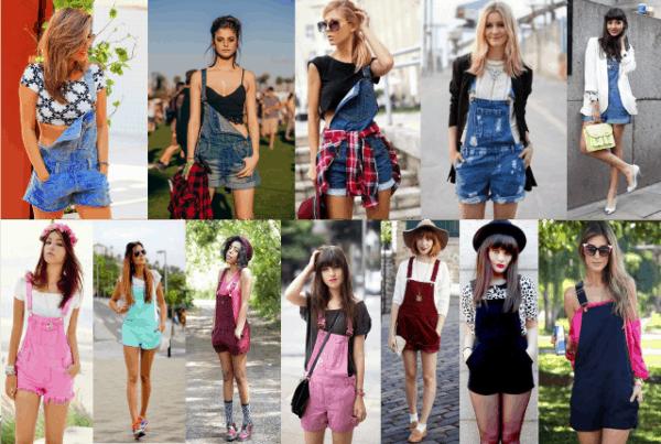 Muitas opções para você se vestir com jardineiras
