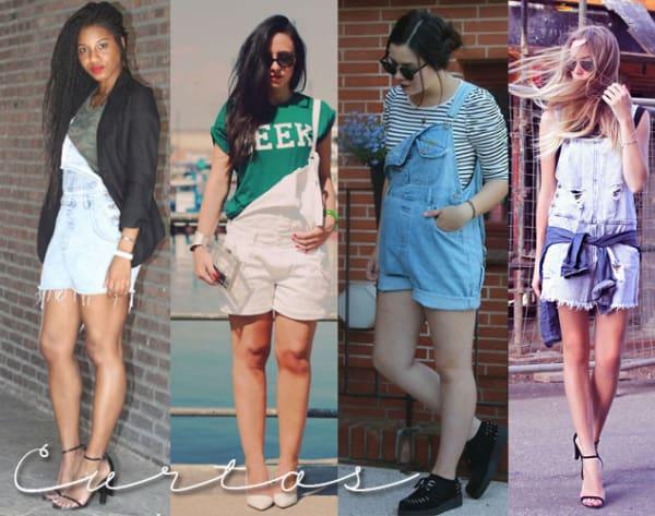 Outros modelos lindos de jardineiras shorts