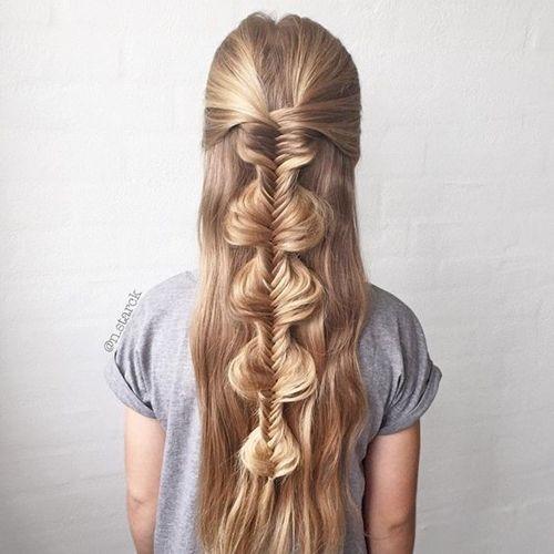 Penteados para madrinhas em cabelos longos 21