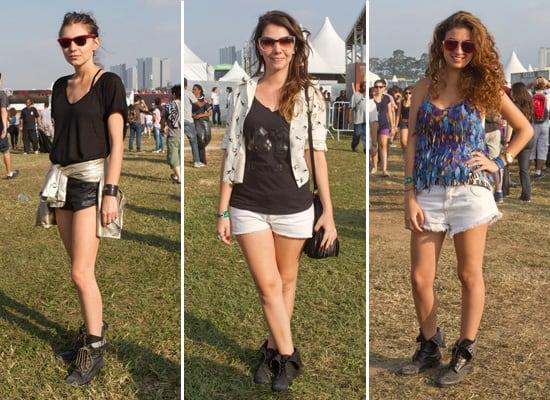 Shorts com botinhas são boas pedidas para o Lolla