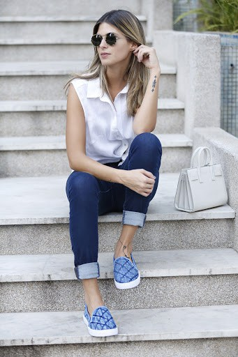 Tênis casual jeans