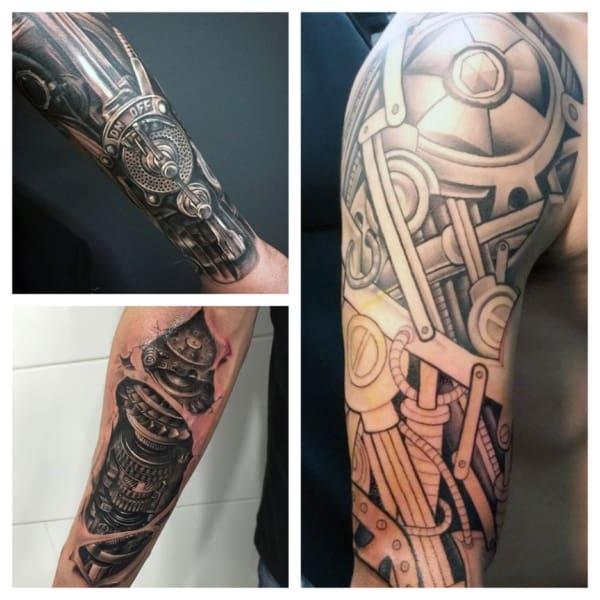 Tatuagem Braço Mecânico ideias 1