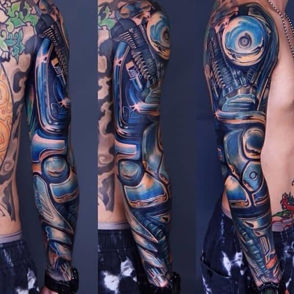 Tatuagem Braço Mecânico masculina