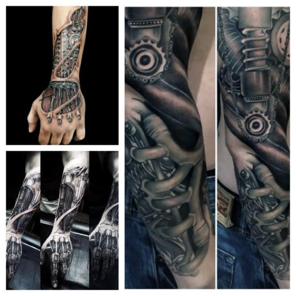 Tatuagem Braço Mecânico