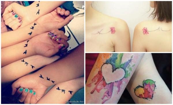 Tatuagem para melhores amigas – 50 ideias lindas, fofas e estilosas!
