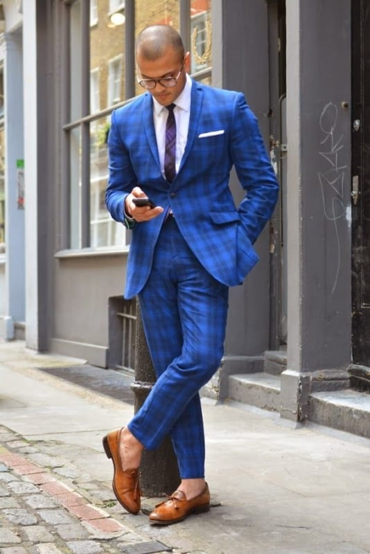Terno Xadrez Azul