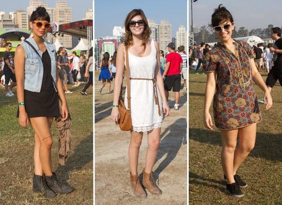 Três looks com vestidos variados para o Lollapalooza