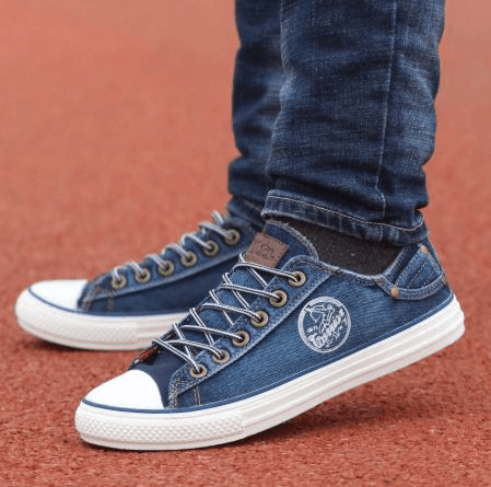 Tênis estilo All Star jeans
