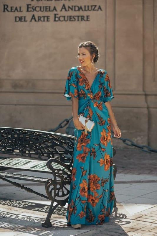 Vestido azul floral lindíssimo