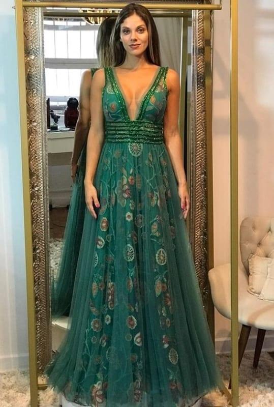 vestidos lindos verde