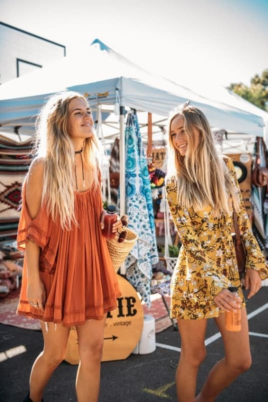 Vestidos estilo Boho super combinam com o Lollapalooza