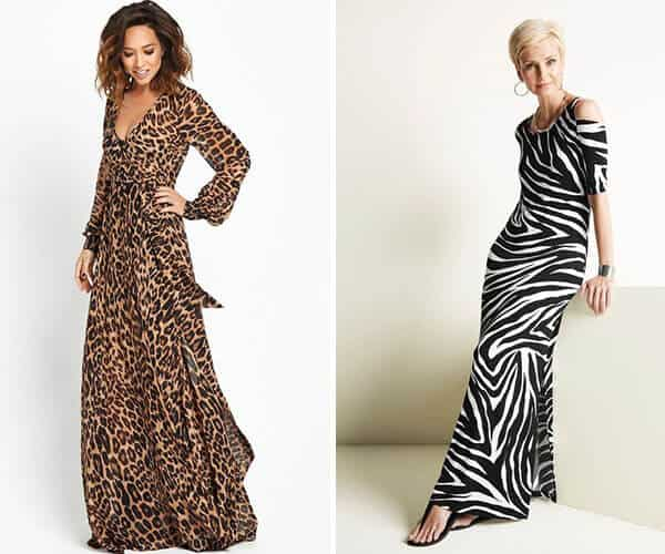 Vestidos lindos com estampa animal print
