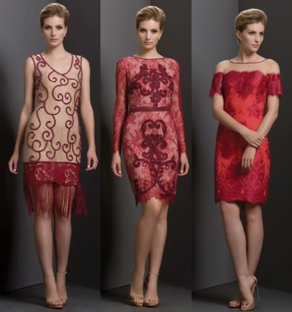 Vestidos lindos de festa bordados e rendados