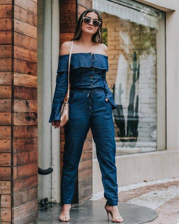 blusa ciganinha jeans jeans com jeans