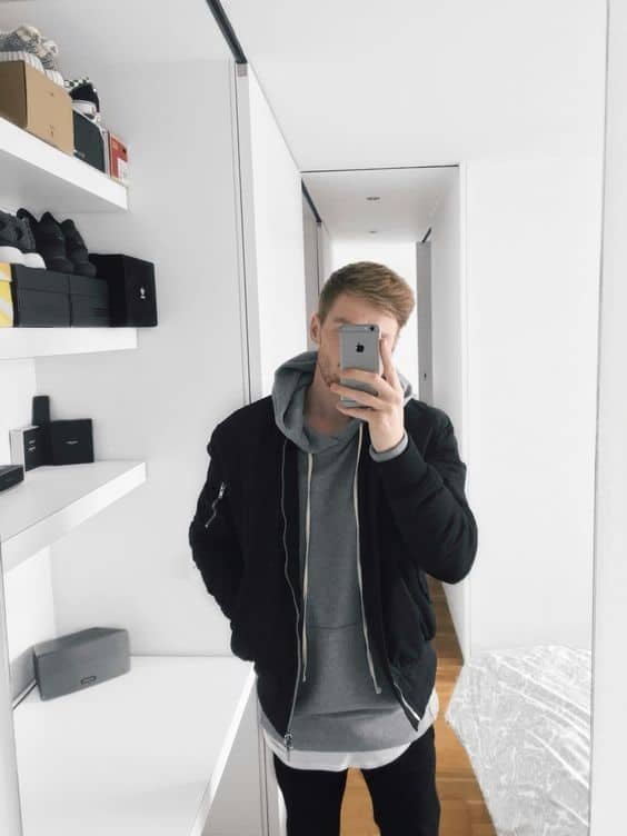 como usar jaqueta preta de sarha