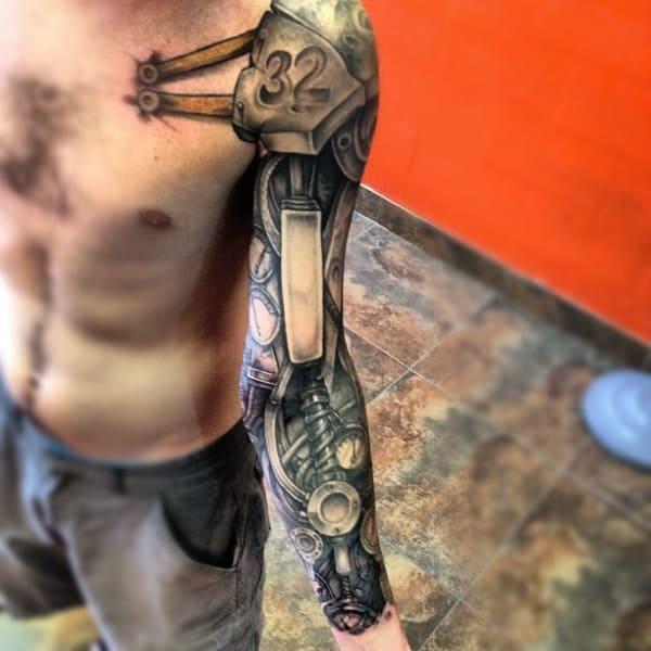 cyborg sleeve tattoo