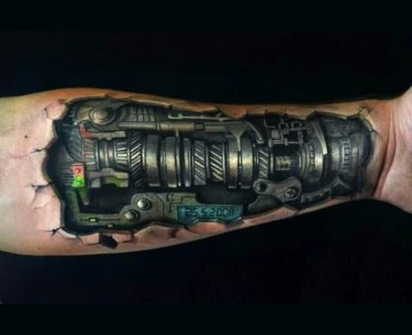 dicas de Tatuagem Braço Mecânico