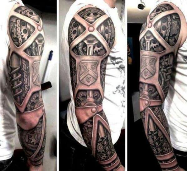 ideias de Tatuagem Braço Mecânico 3d