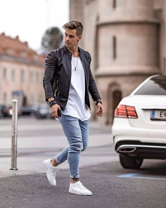 ideias de jaqueta de couro